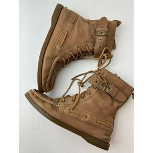 Sperry Top Sider 9293879 Brown Lace Up Boots Size 7.5